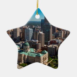 Indianapolis Skyline Ceramic Ornament