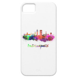 Indianapolis skyline in watercolor iPhone 5 case