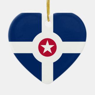 Indianapolis, United States flag Ceramic Ornament