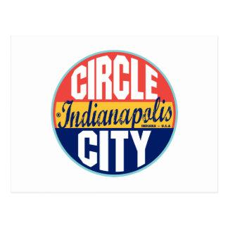 Indianapolis Vintage Label Postcard