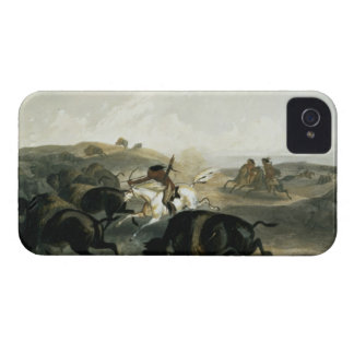 Indians Hunting the Bison, plate 31 from Volume 2 iPhone 4 Case