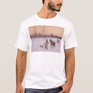 Indians in the Snow (0565A) T-Shirt
