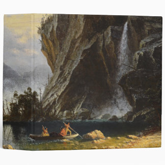 Indians Lake Waterfall Canoe Avery Binder