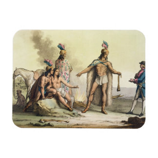 Indians of Patagonia, Chile, greeting a European t Rectangular Photo Magnet