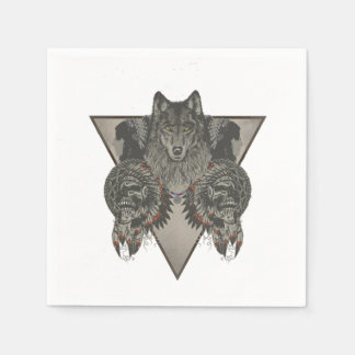 Indians Skull Fantasy Style Disposable Napkins