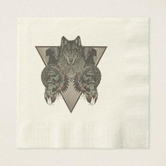 Indians Skull Fantasy Style Paper Napkins
