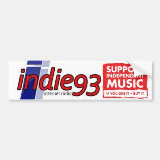 indie 93 butt stamp bumper sticker