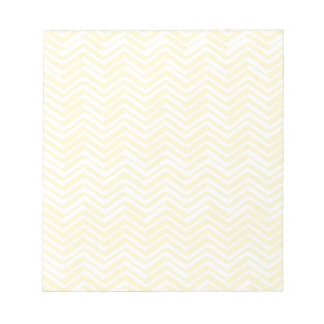 Indie Chevron Gold and White Pattern Notepad