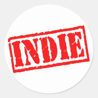 Indie Classic Round Sticker