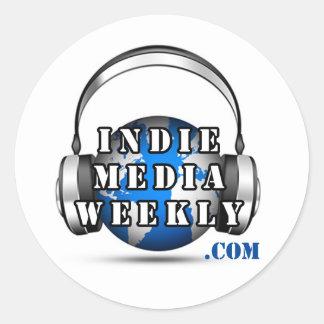 Indie Media Weekly Round Logo Sticker