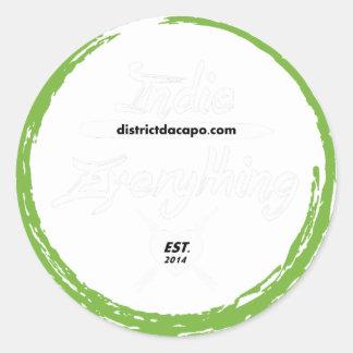 Indie Over Everything Clear Round Sticker