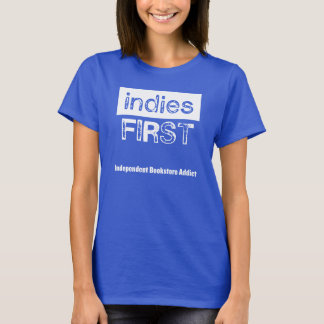Indies First - blue t-shirt, womens T-Shirt