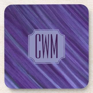 Indifferent Bar   Monogram Lilac Violet Purple   Coaster