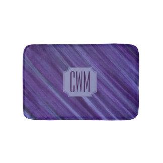 Indifferent Bath | Monogram Purple Violet Lilac | Bath Mat