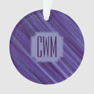Indifferent Holiday | Monogram Purple Lilac Plum | Ornament