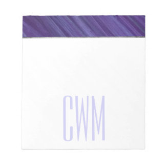 Indifferent Office | Monogram Purple Lilac Plum | Notepad