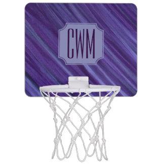 Indifferent Play | Monogram Purple Violet Lilac | Mini Basketball Hoop
