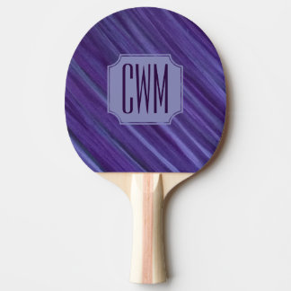 Indifferent Play | Monogram Purple Violet Lilac | Ping Pong Paddle