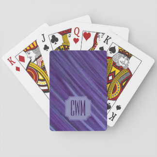 Indifferent Play | Monogram Purple Violet Lilac | Playing Cards