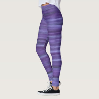 Indifferent Unique Purple Lavender Violet Stripe Leggings