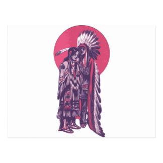 Indigenous Rez Love Postcard
