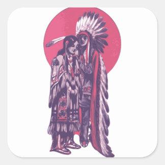 Indigenous Rez Love Square Sticker