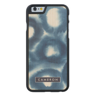 Indigio Watercolor Print Circles Carved Maple iPhone 6 Case
