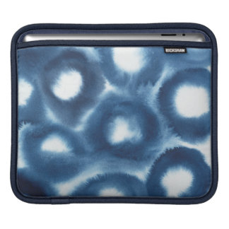 Indigio Watercolor Print Circles iPad Sleeve