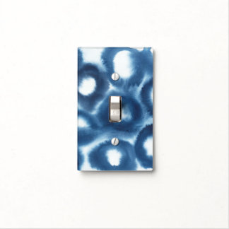 Indigio Watercolor Print Circles Light Switch Cover