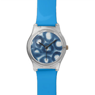 Indigio Watercolor Print Circles Watch