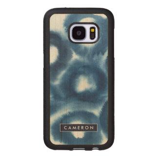 Indigio Watercolor Print Circles Wood Samsung Galaxy S7 Case