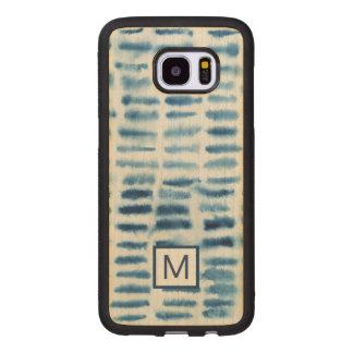 Indigio Watercolor Print Wood Samsung Galaxy S7 Edge Case
