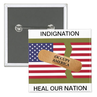 INDIGNATION HEAL OUR NATION PIN