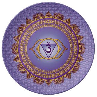 Indigo, Ajna 6th Chakra Plate Porcelain Plates