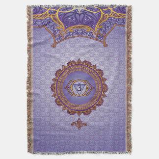 Indigo, Ajna 6th Chakra Throw Blanket