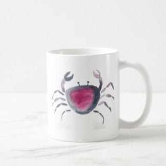 Indigo and Pink Crab Coffee Mug
