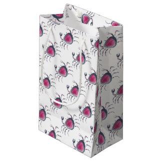 Indigo and Pink Crab Small Gift Bag