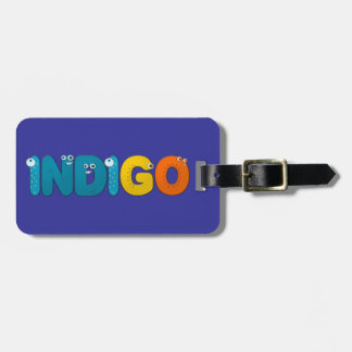 Indigo - animal alphabet luggage tag