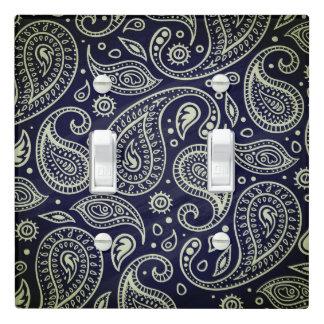 Indigo Blue Black Paisley | Light Switch Cover