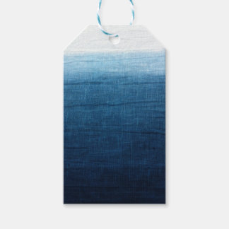Indigo Blue Dip Dyed/Ombre' Fade Ocean Beauty! Pack Of Gift Tags
