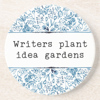 Indigo Blue Floral | Writers Plant Idea Gardens Coaster