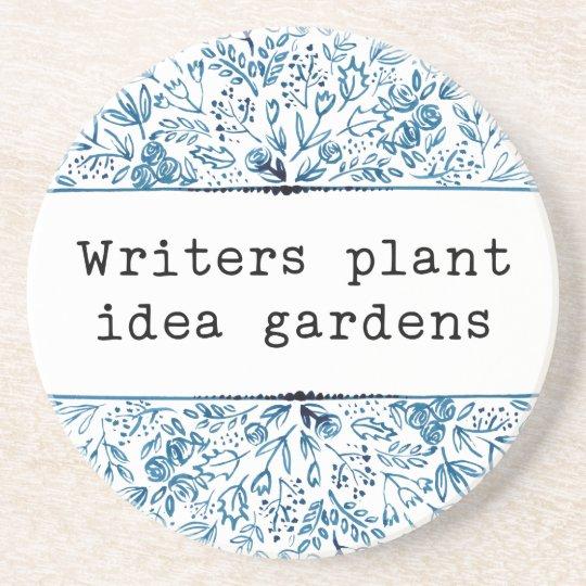 Indigo Blue Floral | Writers Plant Idea Gardens Coaster