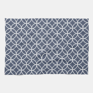 Indigo Blue Geometric Kitchen Towels