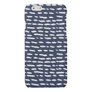 Indigo Blue Grey Dashes - iPhone Case - 6/6s