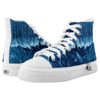 Indigo Blue High Top Unisex Sneaker