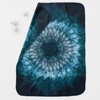 Indigo Blue Mandala Baby Blanket