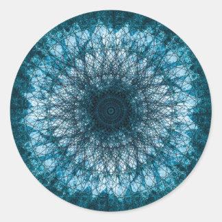 Indigo Blue Mandala Classic Round Sticker