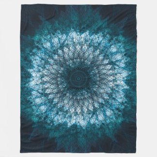 Indigo Blue Mandala Fleece Blanket