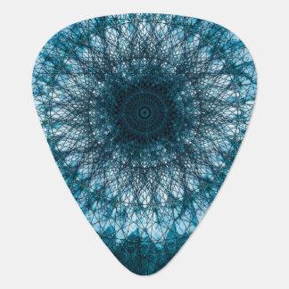 Indigo Blue Mandala Guitar Pick