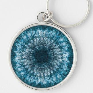 Indigo Blue Mandala Keychain